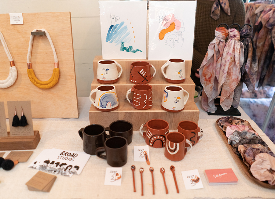 Broad Studio: Fibrous, She Ceramics, and Silk Diaries