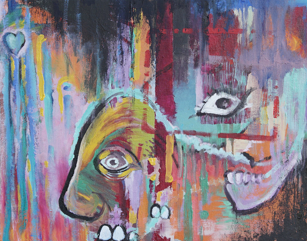 Untitled Self. Oil on canvas panel.