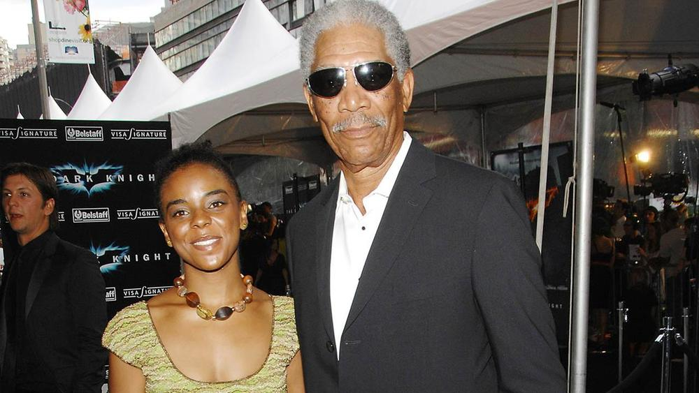 Morgan Freeman wilth granddaughter- E'Dena Hines