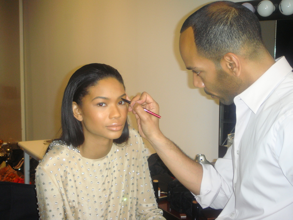 Sam Fine with Supermodel Chanel Iman