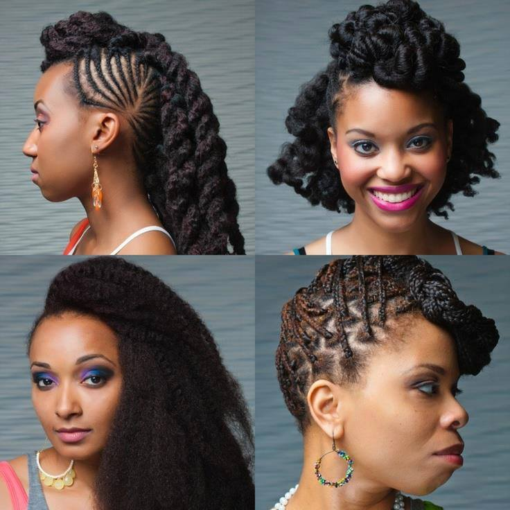 Amazing 18 Cool Ways To Style Your Cornrows And Afro Chic Hairdos Africa Short Hairstyles For Black Women Fulllsitofus