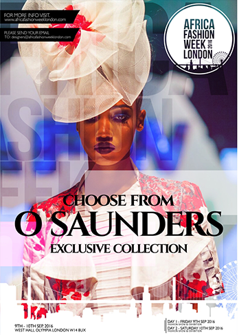 O'Saunders O'Saunders is a fashion brand which completely represents the ideology of modern day woman taste in fashion. The brand started in 2010 by Olabisi Saunders a fashion graduate with the aim of providing uniquely crafted garments and accessories which gives a sense of confidence, luxury, modernity and functionality to women of different sizes and colour.  The  brand provides both ready to wear and high-end dresses to complement the modern day woman, inspired by the intricate detailing of every thing art, lifestyle, culture of decades past O'Saunders is representing Sierra Leone