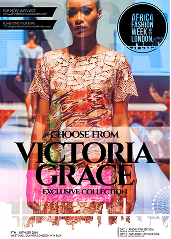Victoria Grace Victoria Grace is a brand that aims to dress women who love elegance, timeless style and luxury.   The brand blends either the East or the West with Africa and closes the taste gap between cultures by creating a unique style; it is the ultimate taste of European-African joie de vivre.   Most pieces are limited and bespoke with an aesthetic towards couture-creation. Victoria Grace is representing Nigeria and Germany
