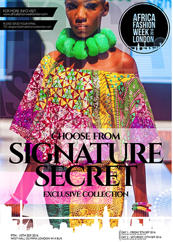 Signature   Secret  was established 2007 with the backing of the Federal Government Nigeria, Corporate Affairs Commission (CAC).  The brand concentrates on bringing out the elegance and uniqueness in every woman using African prints, chiffon fabrics, lace.         Signature Secret  is representing Nigeria