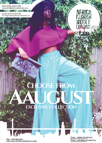 AAugust AAugust is a new upcoming brand that was discovered by Emelda Mbulo and Suwilanji Katuka in 2015. After graduating in Fashion and Textiles, their brand revolves around tailored clothing and textiles, combining the two skills in unpredictable unique ways to create garments that are versatile in accordance to personality. Bright colours, pattern cutting skills and weaving techniques have been a part of their inspiration giving the chance to work with both men's wear and women's wear. AAugust is representing Zambia