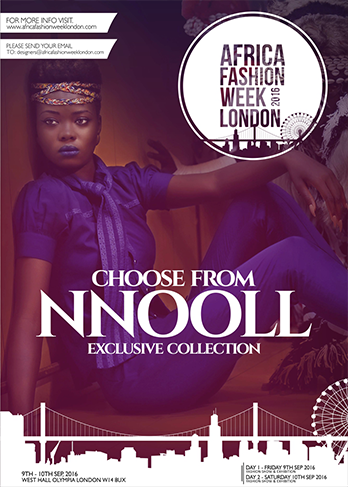 "The mantra of Nnooll is arresting:   ""Your Style Is our Command.  You are unique, so why bother trying to dress like everybody else?   You are playful, yet sophisticated and always ahead of the game. You are a Style Rebel, and this collection is our celebration to you."" Each garment is ethically handmade in The Gambia. Nnooll is representing The Gambia and Sweden."