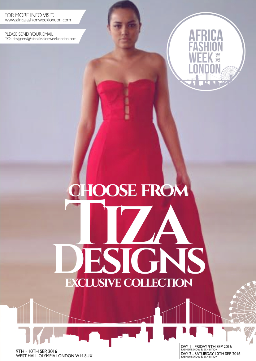 Tiza   Designs  was created by Tiza Chandwe in 2013 while studying Fashion Design at Capetown College of Fashion Design.    Tiza Designs aims at providing women with elegantand sophisticated clothing with an African twist.   Tiza   Designs  also encourages young people that are interested to work harder and never doubt themselves. That's why we plan to have a program where we will go out to less privileged high schools and give them our left over fabric trims which we can teach them to use to make accessories such as bags, earringsand necklaces.  These students could end up turning these skillsinto a business. In the same way we will also be helping the environment as the left over fabrics will be used to create amazing accessories.      Tiza Designs  is representing Malawi.