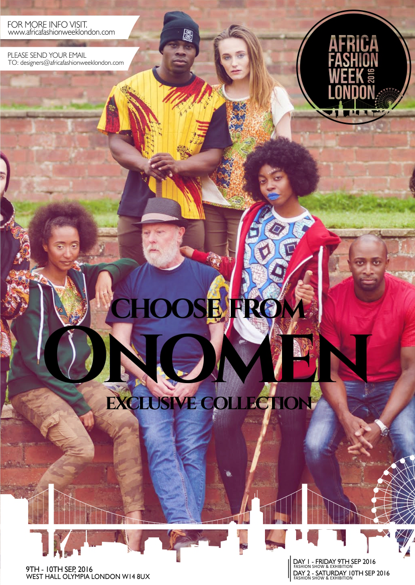 "Onomen are a new street wear, fashion and lifestyle brand. Established in 2014 by Aiwan Obinyan. The journey began small with the first line consisting of men's T-shirts that were a combination of Nigerian Ankara fabrics and British jersey cotton, marrying Aiwan's Nigerian heritage with her influences from growing up in the UK.  After a successful launch she took a short hiatus and now this year with a renewed energy as well as some bolder designs they are relaunching with our second collection - extended our ranges into winter wear with the addition of our unisex reversible hoodies and a women's line of T-shirts alongside the men's. Onomen pride themselves in not only being a black fashion label; but being a conscious brand that promotes a positive image of and within the black community; actively doing their part in spreading knowledge and educating people about the history, diversity and true nature of the African continent and her diaspora. Onomen's motto is ""Traditional Streetwear:  Ancestral Aesthetics, concisely reflects who we are and where we are going, but also reminds us where we came from."" Onomen is representing Nigeria and the UK"