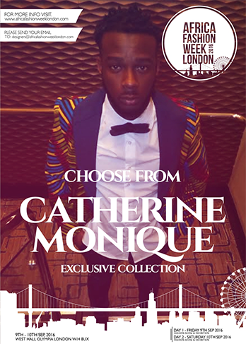 Catherine-Monique  as a brand is about bringing African culture together with western culture through high fashion. It's about providing alternative ways of wearing African prints with a current twist.     Her inspiration for this particular collection is birds. The silhouette of the birds and how the feathers are built up and layered to make the bird, married with African prints. Birds and the African prints carry bright and beautiful colouring, which make it ideal to work together.     Catherine-Monique  is representing Ivory Coast and Cameroon