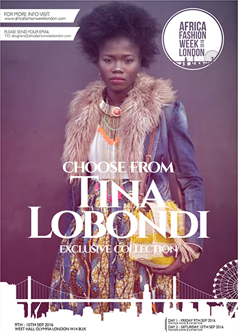 Tina Lobondi established her fashion label in Notting Hill, London in 2011. Combining African heritage with delicate French couture, her designs are up-market and classic. From India to Congo, materials are sourced globally and the collections are entirely produced in Paris and London. Fabrics are often printed with Africa-inspired patterns and mixed with precious materials such as silk and organza. She has worked with numerous artists including Grammy Award winner and New York based singer Angelique Kidjo, and actress Thandie Newton. Tina will be showcasing at the Africa Fashion Week London 2016 in collaboration with Ngone, a jewellery designer.  Ngone's designs are available in necklaces, cuffs, earrings, jewels become headbands and hair ornaments, etc.