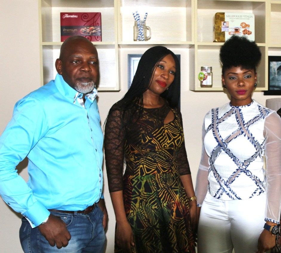 From left AFWL/AFWN Creative Director – Sola Oyebade, Ronke, Yemi