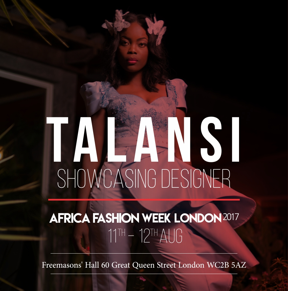 TALANSI - Richelvie Talansi, is a Congo based designer who launched her first collection in 2014 called 'Simple & Sublime', before she launched her brand Talansi.Since then, she has produced 4 collections, shown in Dubai, Kenya.  Africa Fashion Week London will be her first showing in the UK.