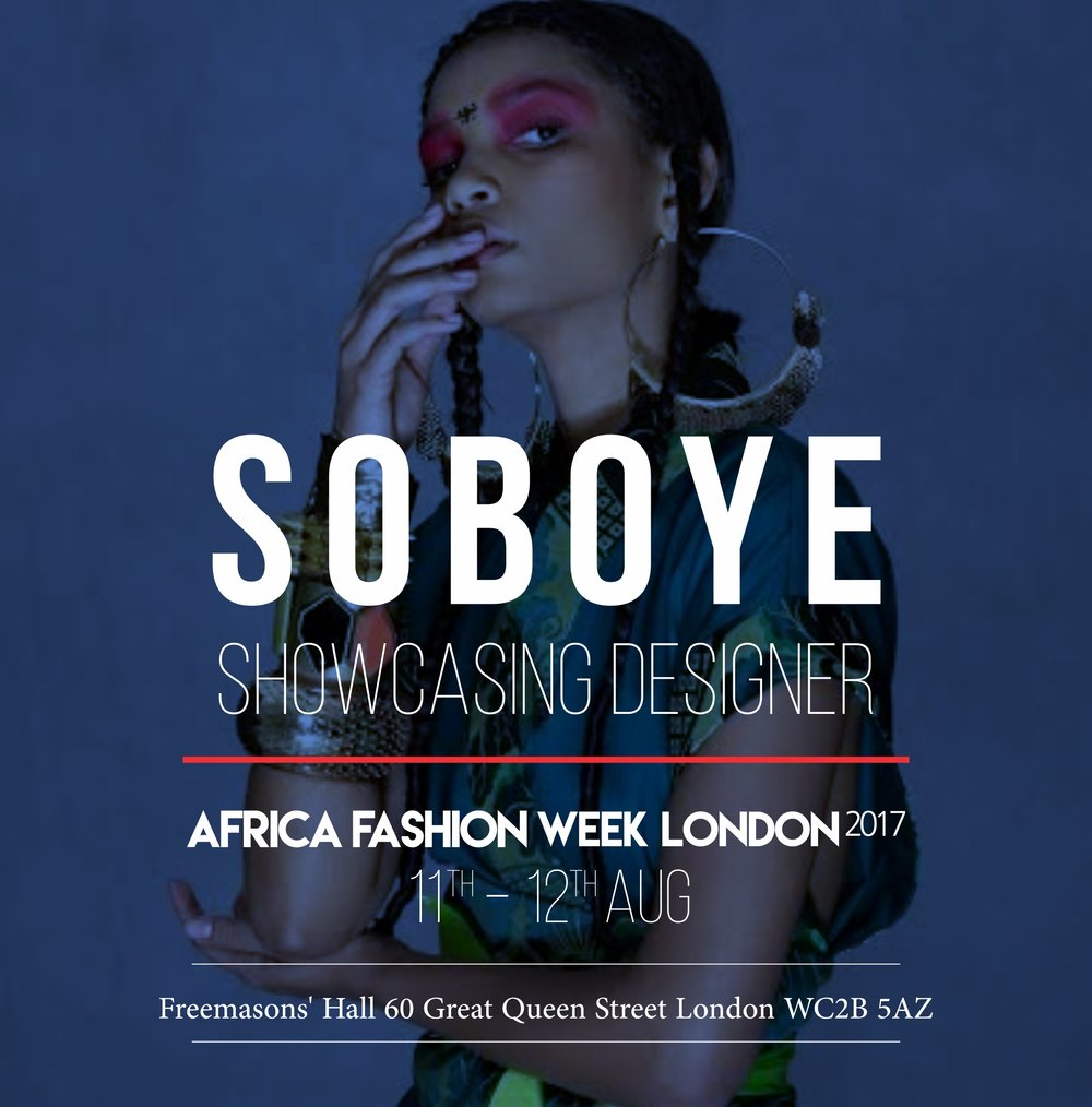 SOBOYE - Graduating from Central St. Martin's School of Art in the mid-nineties Samson Soboye left with a degree in Fashion, Communication & Promotion, then rapidly embarked on a fashion styling career.2017 sees the launch of the SOBOYE 'Afrikimono' collection that fuses cultural dress influences from Japan, India, West Africa and Great Britain.