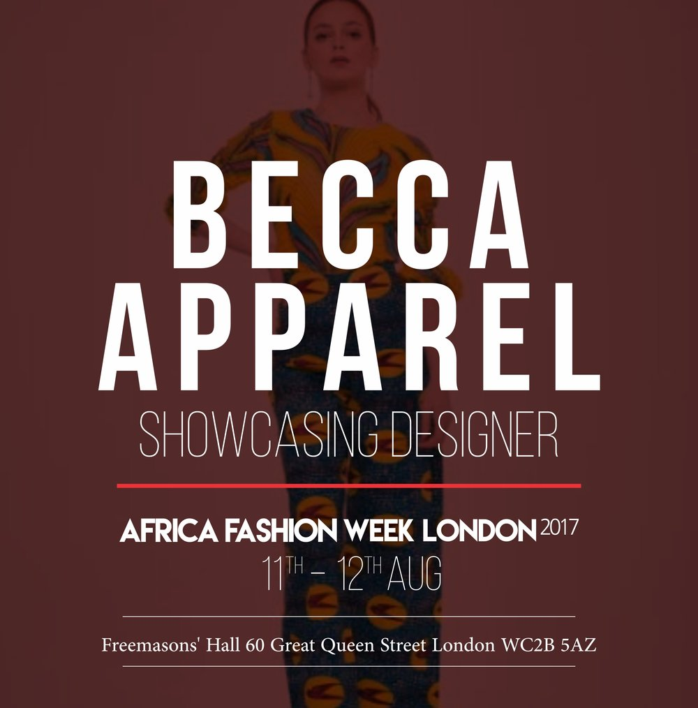 BECCA APPAREL - Becca Apparel London is a London based fashion label, established in 2015.The brand focuses on combining African prints with contemporary trends, to create a unique style for women for/on every occasion- African country : Nigeria - Based in London, business is based in Nigeria/London
