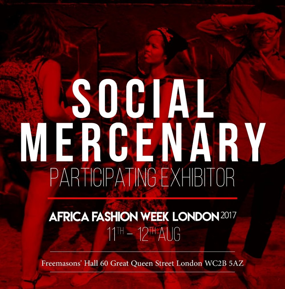 SOCIAL MERCENARY - Positive prints for positive people. Social mercenary is about promoting african print fabrics as well as ensuring ethical production throughout. Social Mercenary is representing Ghana and is based in Worcestershire, UK.