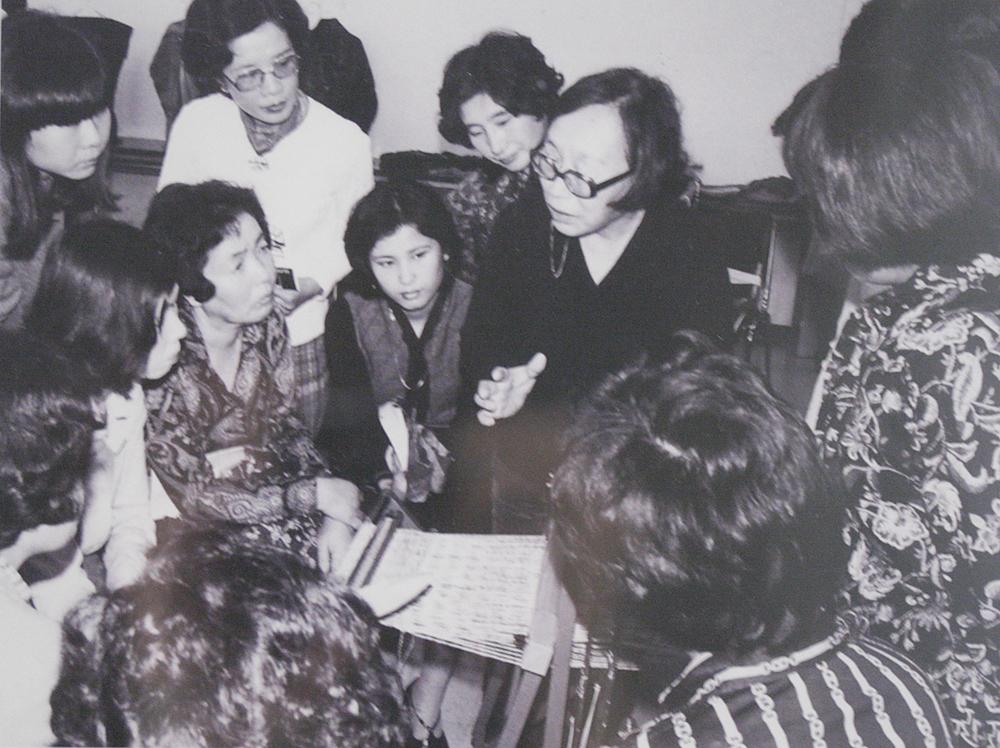 Misao Jo, a founder of SAORI in 1981