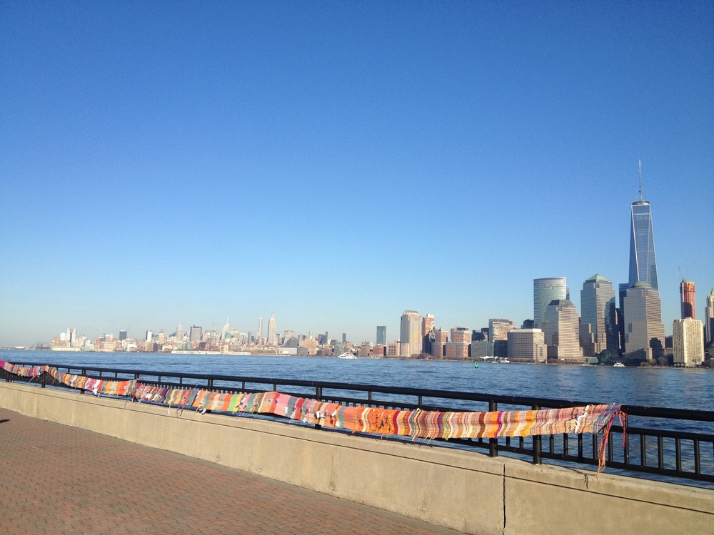 Tsuanami  Cruise woven banner created by 3,000 people around the world
