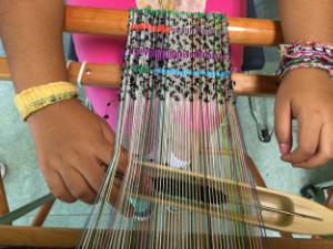 SAORI weaving bracelet making