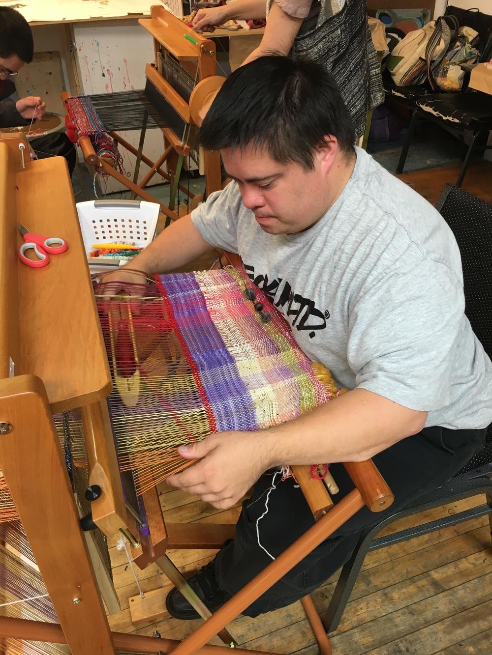 Artist Paul Pulizzano SAORI weaving