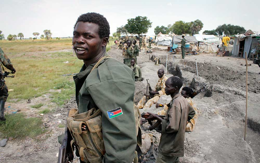 South Sudanese soldiers. (AP/Justin Lynch)