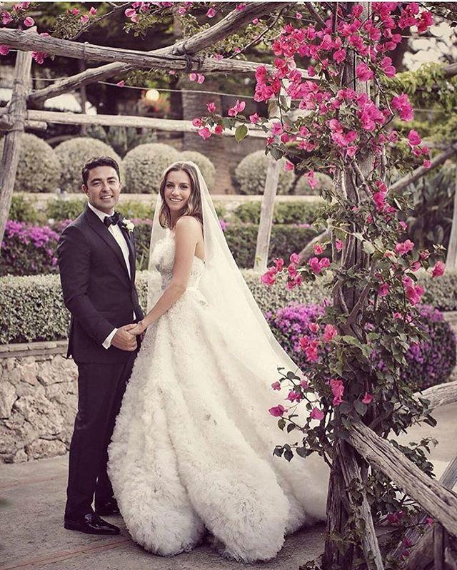 Antonia's magical isle of Capri Italian wedding. Antonia chose #stevenkhalil for her special day.