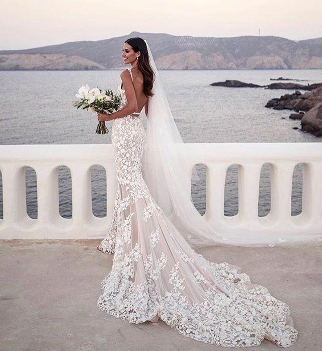 The perfect backdrop! Steffanie chose #stevenkhalil for her stunning wedding in Greece.  @steffanietzaneros @lostinlove_photography