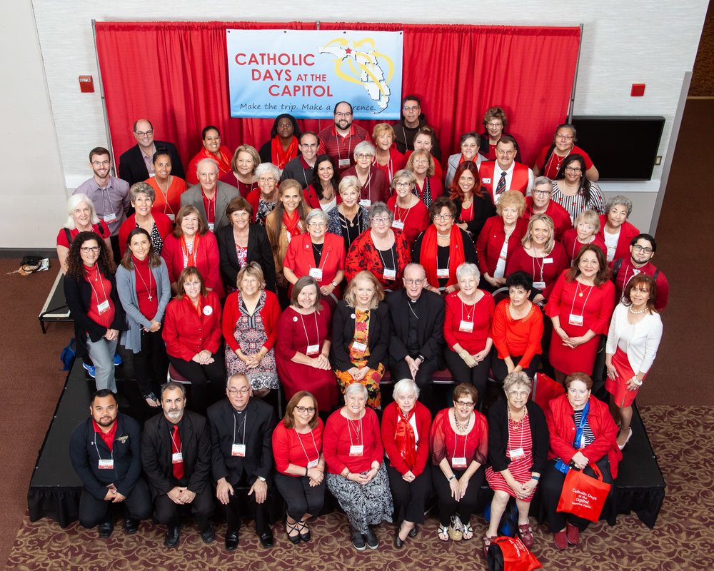 Advocates from the Diocese of Orlando in 2019, including Women of ODCCW