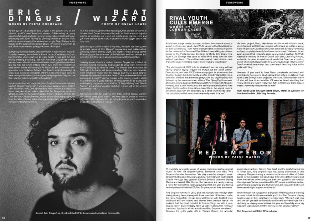 Photograph published in Audio Addict Magazine