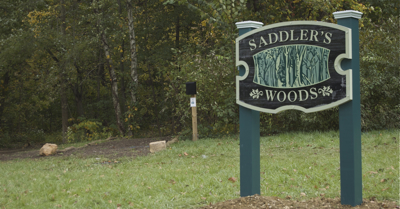 SaddlersWoodsWelcomeSign