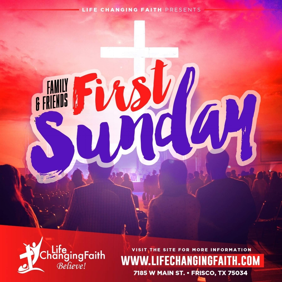 LCF Friends and Family we invite you to come out for our new Sunday worship and praise experience we call 'Friends and Family First Sunday' that will begin at 9:00 am on the first Sunday in March 2018 and continue every first Sunday thereafter. See below for details on what you should expect.   - This special monthly Praise and Worship service that will give the entire family an opportunity to worship together and provide a special targeted Sunday to invite friends and extended family to come out and join in worship.  - The special service will be extended provide for a longer praise/worship and message experience. The service will include the presentation of various fine-arts worship ministries (mime, dance, rap, etc) as well.  - No Men's/Women's Bible Study, Ignite Youth Ministry/F.I.R.E Teen's service on Friends and Family First Sunday  - Food will be provided as we fellowship together after service.  We look forward to seeing you, worshiping, praising, and sharing fellowship with you!