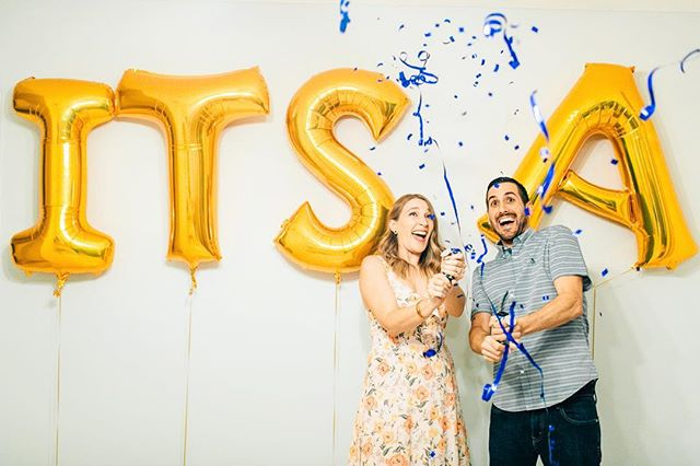 we have some major epic news to share over here -- our very own boss babe @marisaloughney and her hubs are expecting their first, and IT'S A BOY! 💙We are so excited for this little dude to join us in December 🤘// #itsaboy
