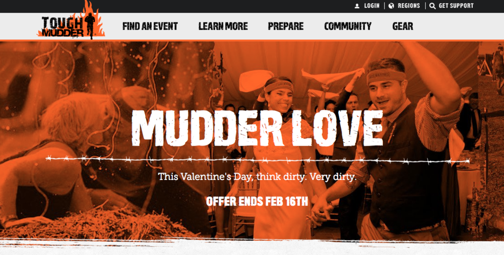 Sarah Ginder Photography featured on Tough Mudder's website for Valentine's Day 2015