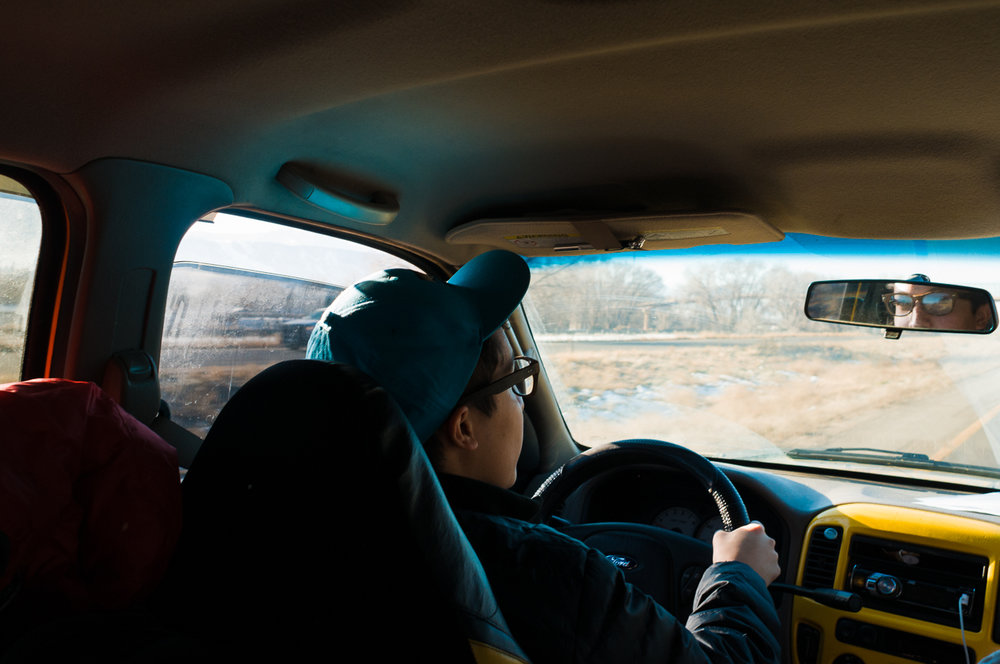Jan 03, 2014 -   Michael taking the first shift of driving on our way to Sedona.