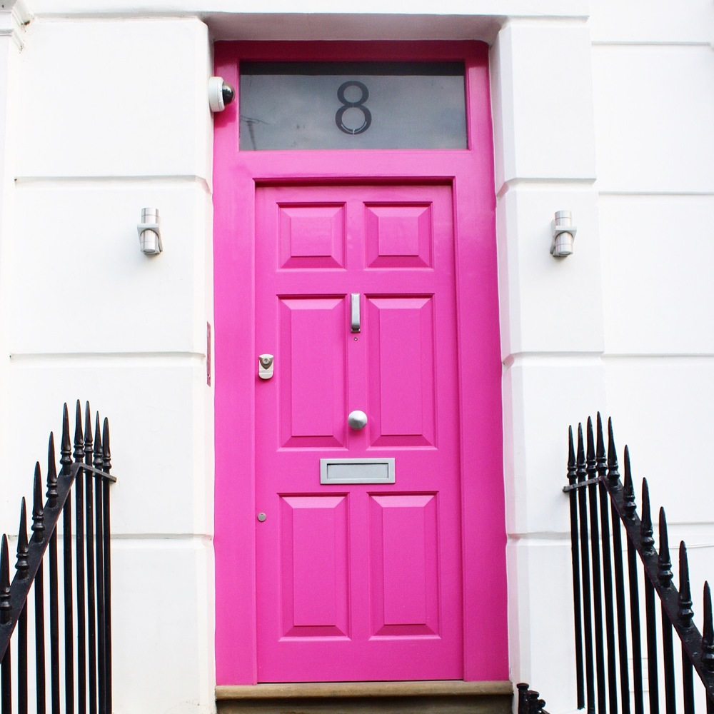 Notting Hill Charm - Pink Doors | Sundays and Somedays