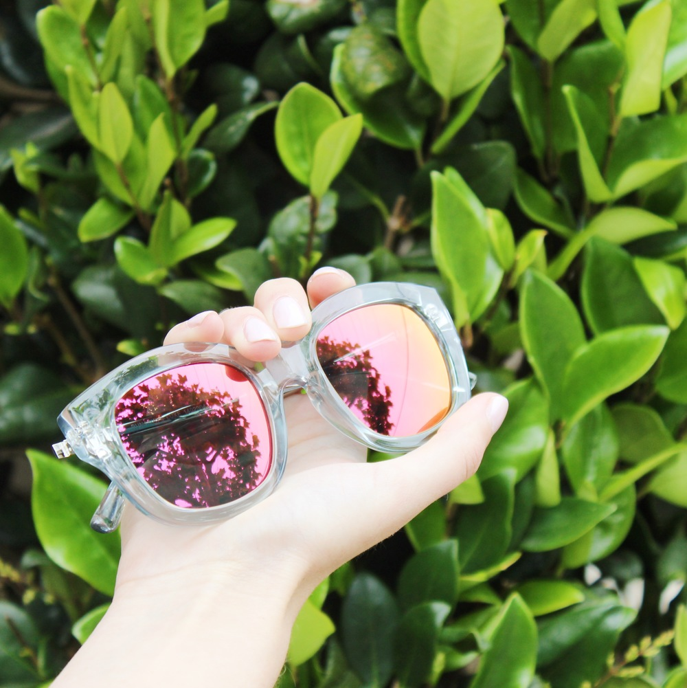 A Touch of Blush - Pink Mirrored Sunglasses | Sundays and Somedays
