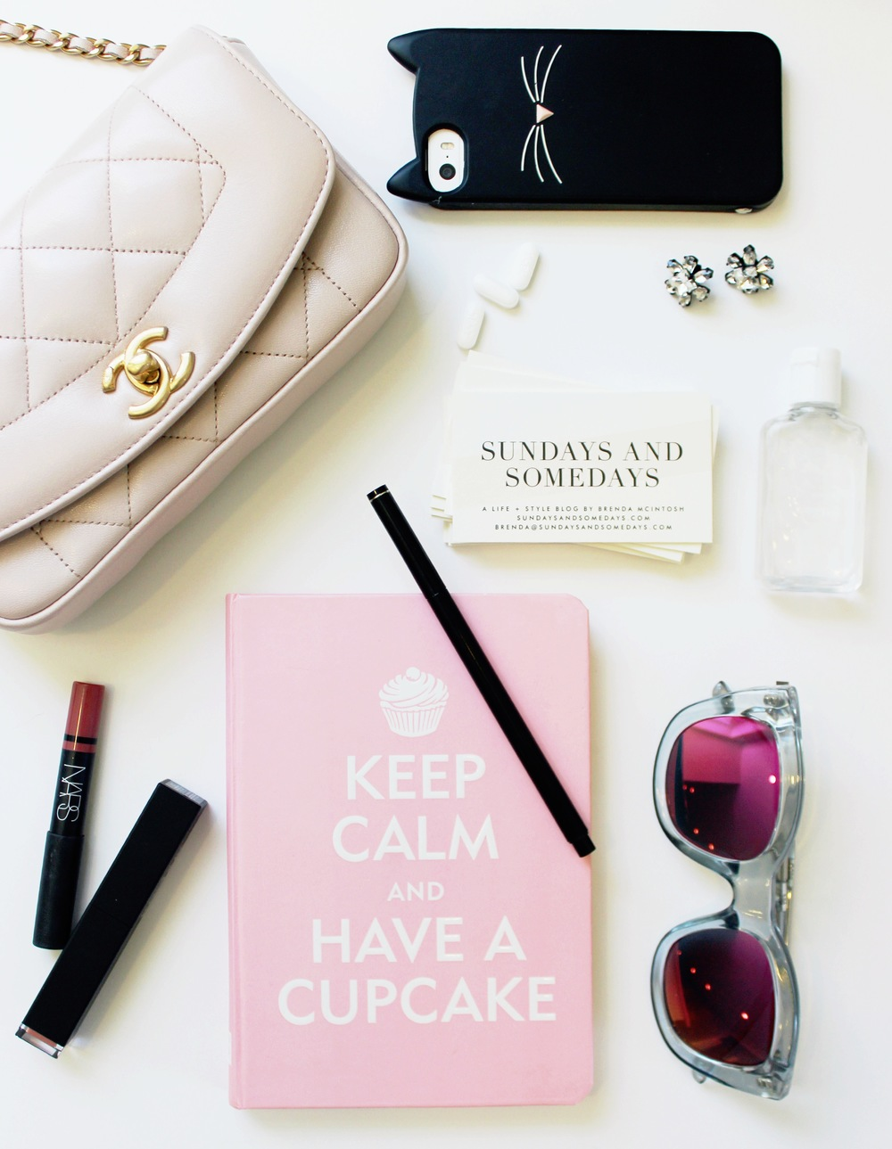 Alt Summit - What's in my bag from Altitude Summit, including Minted business cards, Nars lip color and Le Specs sunglasses | Sundays and Somedays