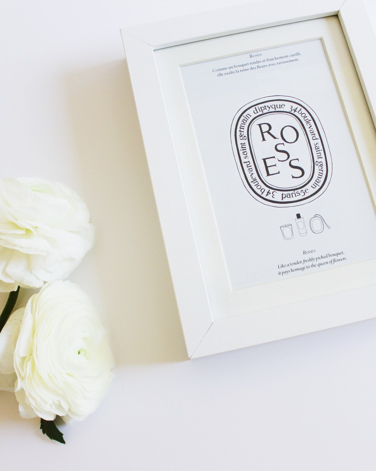 A cute DIY using a Diptyque catalogue.