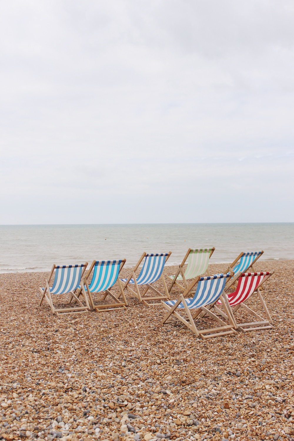 A beach day in Brighton, England.
