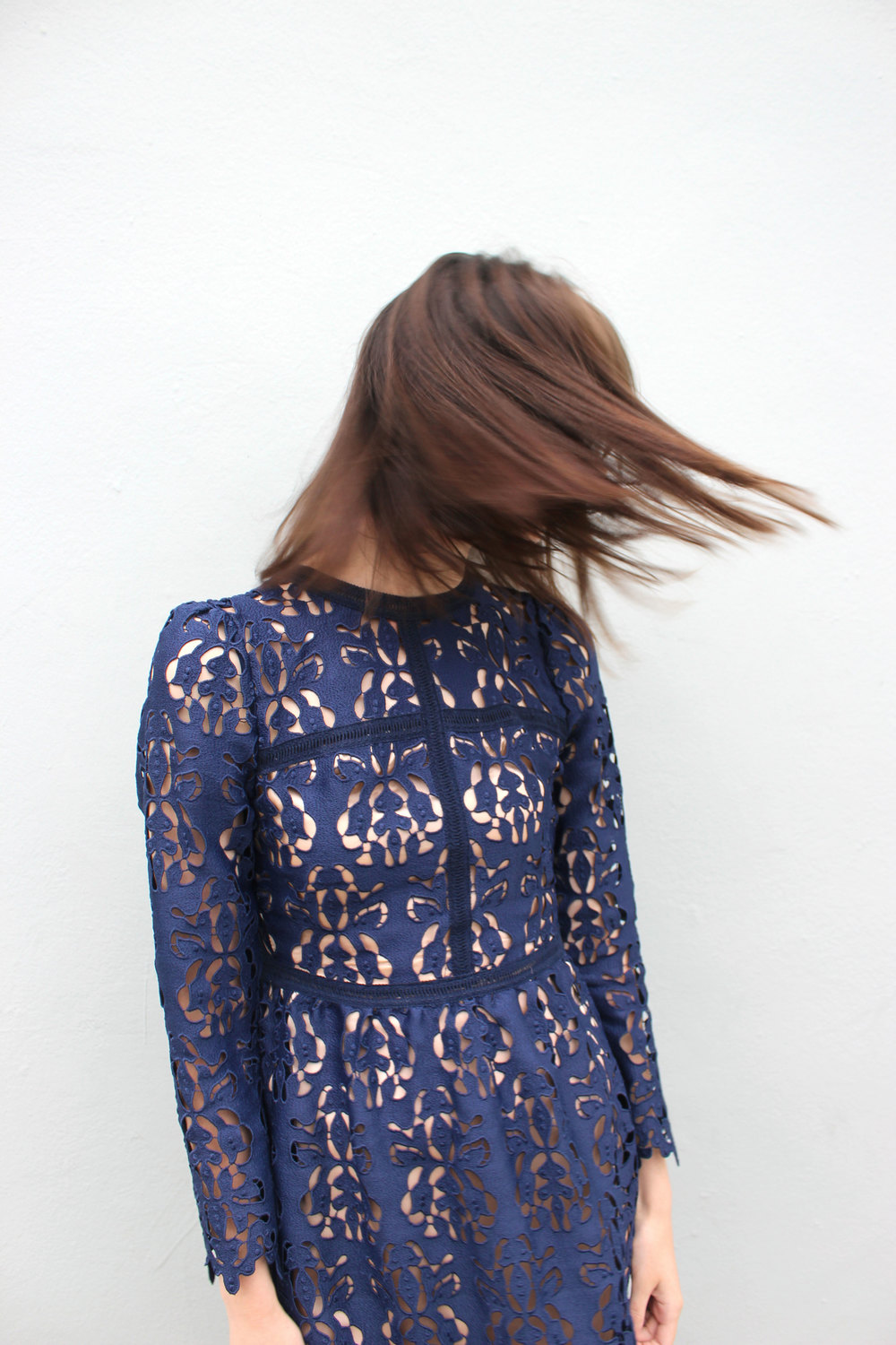 Blue Zara lace dress