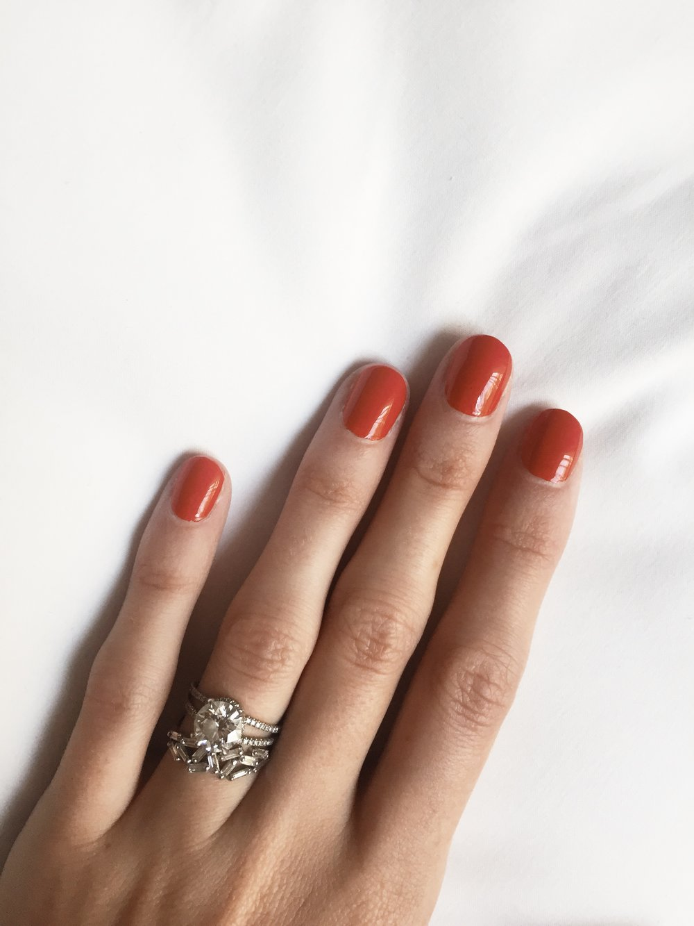 Manicure in 'Stiletto' at Cheeky Salon at the Hoxton, Holborn hotel London