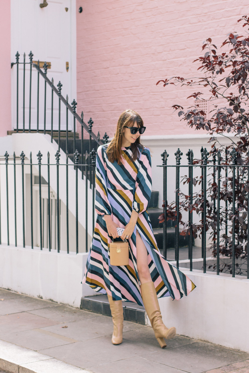 Striped Topshop Dress Pink House Notting Hill Gate-7.jpg
