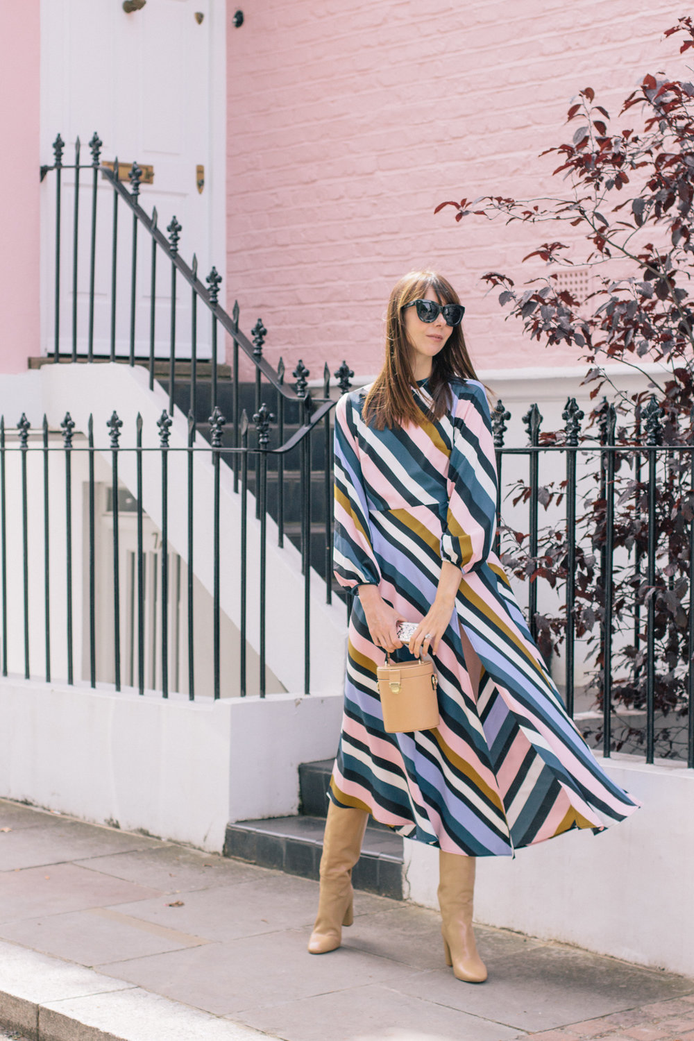 Striped Topshop Dress Pink House Notting Hill Gate-8.jpg