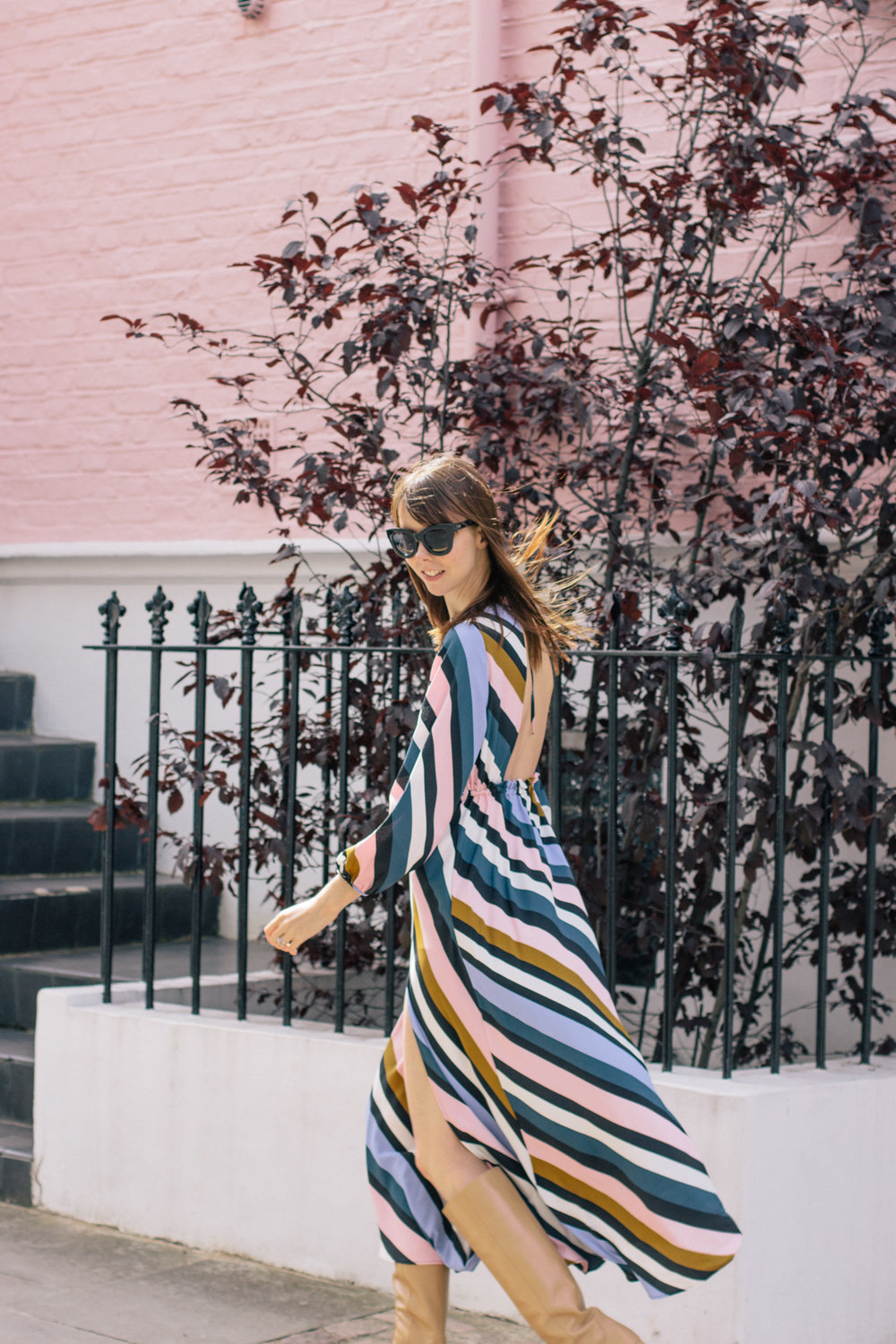 Striped Topshop Dress Pink House Notting Hill Gate-9.jpg
