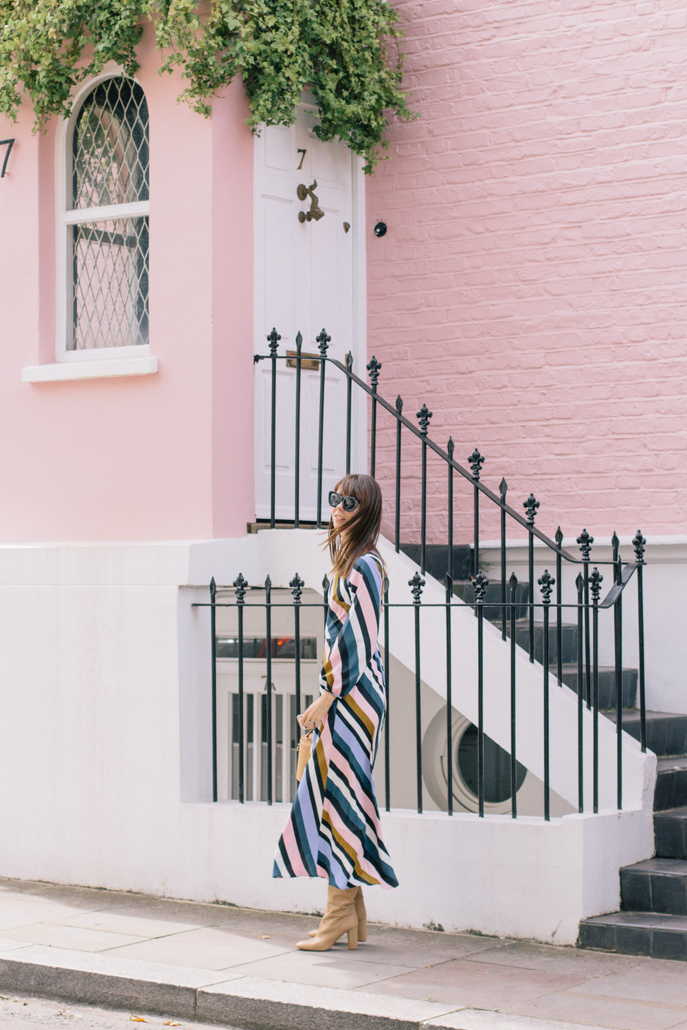 Striped Topshop Dress Pink House Notting Hill Gate-16.jpg