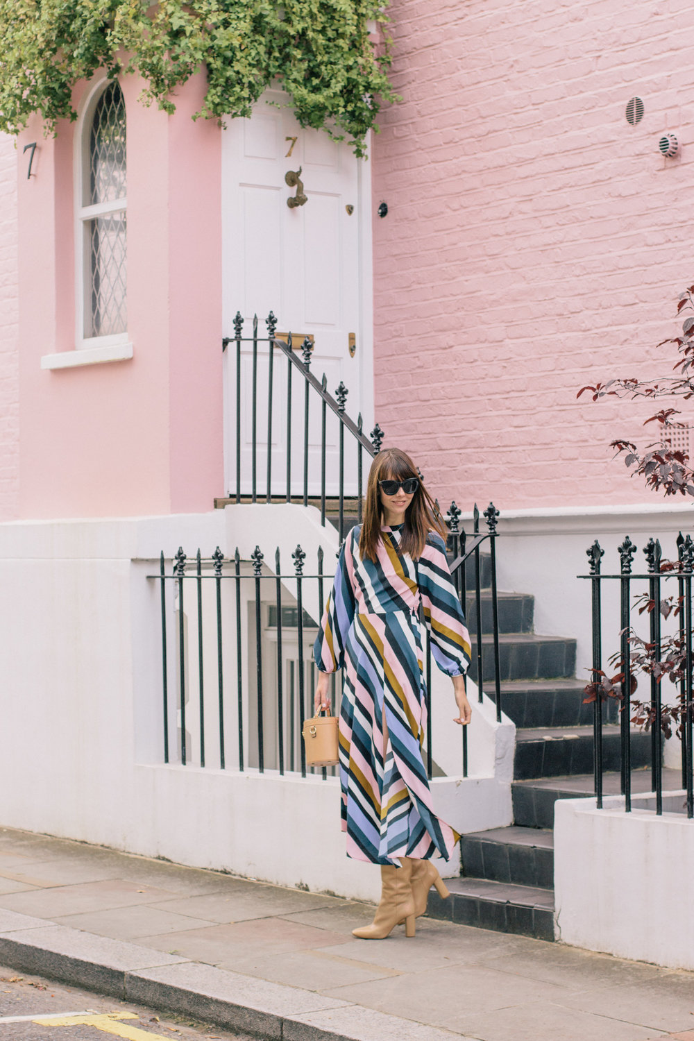 Striped Topshop Dress Pink House Notting Hill Gate-41.jpg