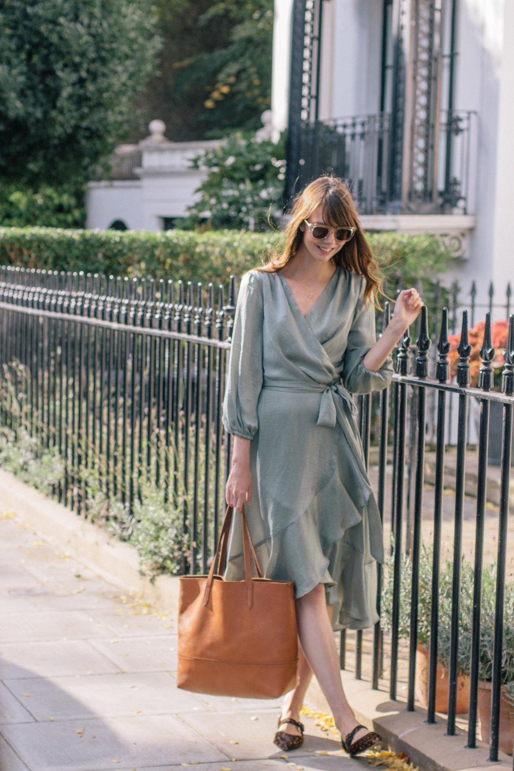 Gal Meets Glam Collection Green Frilled Dress London-3.jpg
