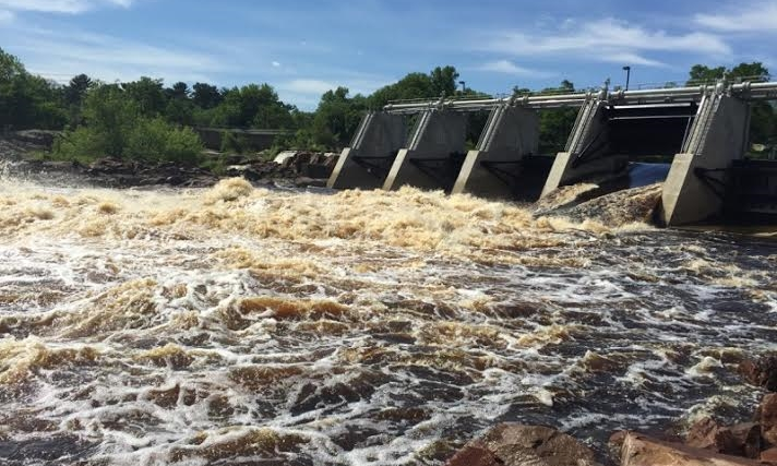 Black River Falls Dam Class III+ Rapids