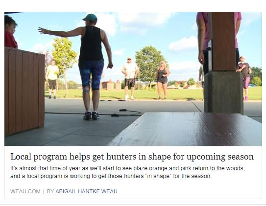 Hunter Fitness on WEAU TV.JPG