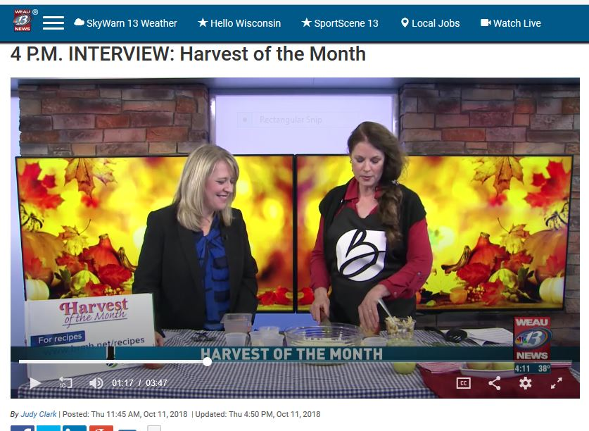VIIEW THE LIVE appearance on WEAU-TV 13 on Oct. 11