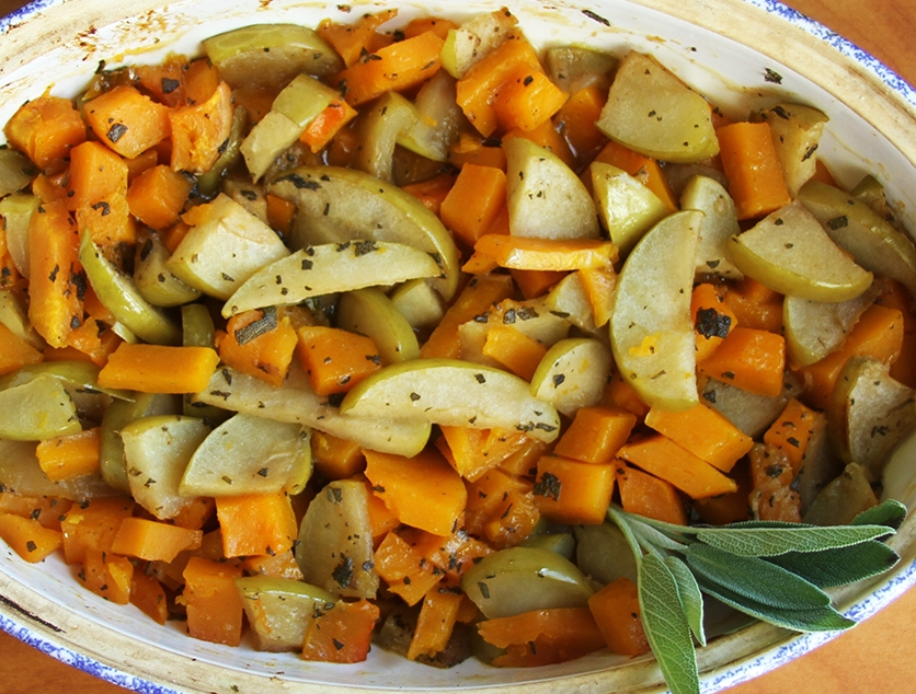 Featured Squash Recipe with Apples & Sage